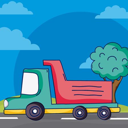 cargo truck on street