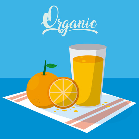 Orange juice on glass