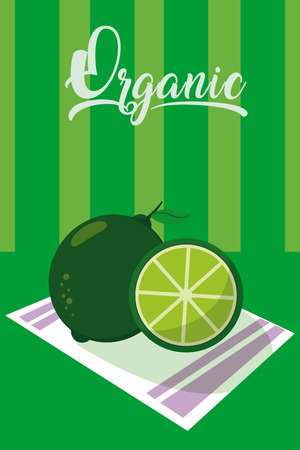Organic lemon fruit vector illustration Illustration