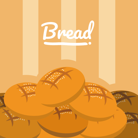 Delicious bread cartoon vector illustration