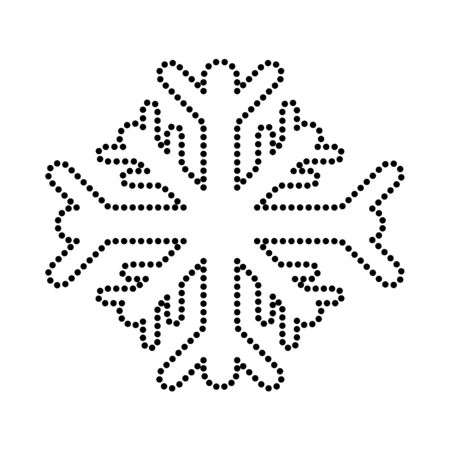 Dotted shape snowflakes cold weather nature season