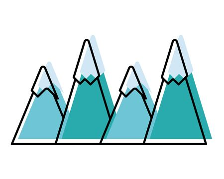 Moved color natural mountains snowy season weather Stock Illustratie