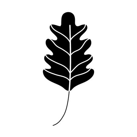 silhouette kale leaf tropical nature plant vector illustration