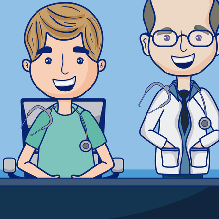 Funny doctors cartoon