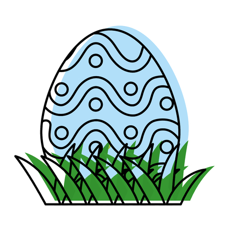 Moved colored Easter egg with points decoration holiday