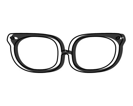 moved color optical glasses object with frame style