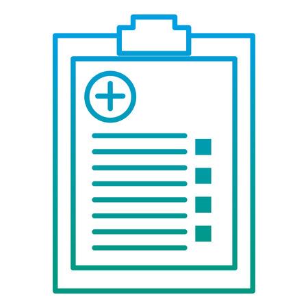 degraded line diagnostic medical prescription healthcare revision Vector illustration.