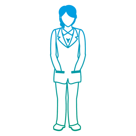 degraded line woman doctor  faceless and medicine uniform Vector illustration. Illustration