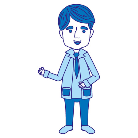 duo color man doctor with medical uniform and clothes vector illustration