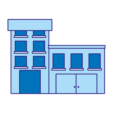 Dual color medical hospital on white background.