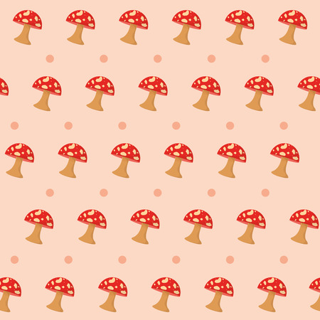 Red Fungus pattern background vector illustration graphic design Çizim