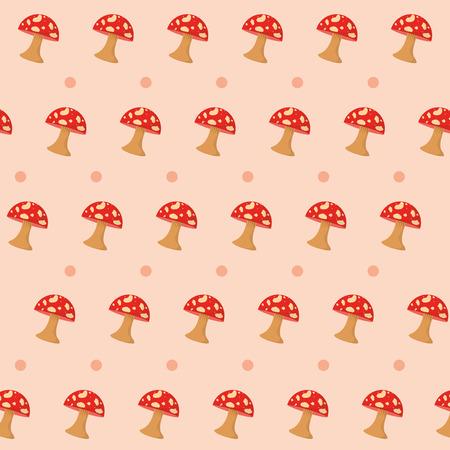 Red Fungus pattern background vector illustration graphic design Illustration
