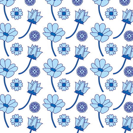 duo color beauty flowers with petals backgroud decoration
