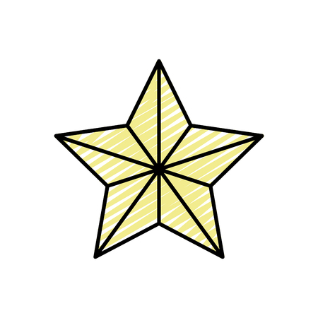 doodle shiny star in the sky design icon Vector illustration.
