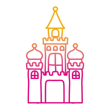 degraded line candy medieval castle and artistic design vector illustration Illustration