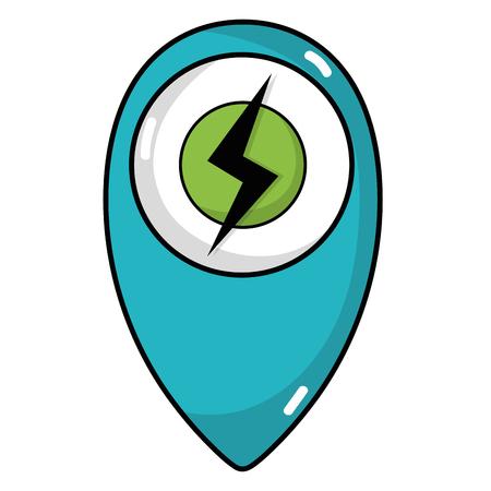 Power hazard energy symbol to ecology conservation vector illustration.