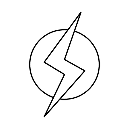 line power hazard energy to danger symbol Vector illustration.