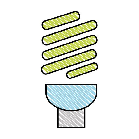 doodle bulb energy technology ecology conservation vector illustration Vectores
