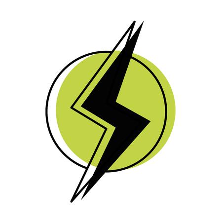 Moved color power hazard energy to danger symbol vector illustration