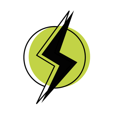 Moved color power hazard energy to danger symbol vector illustration