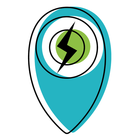 Moved color power hazard energy symbol to ecology conservation vector illustration Stock Illustratie
