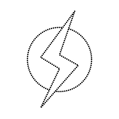 dotted shape power hazard energy to danger symbol vector illustration