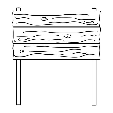 line wood warning notices frame sign vector illustration Stock Illustratie