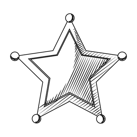 line western sheriffs star object symbol vector illustration Illustration