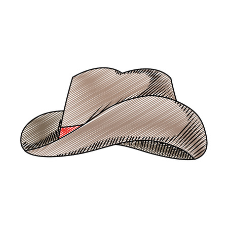 doodle waster hat object american style vector illustration