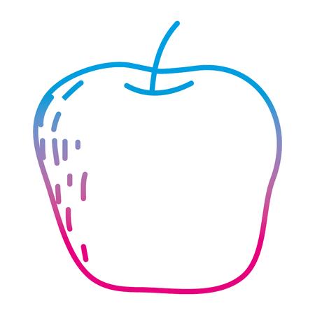 degraded line delicious apple fruit organic vitamin vector illustration Vettoriali