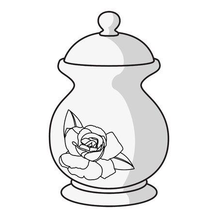 Porcelain container vector illustration Illustration