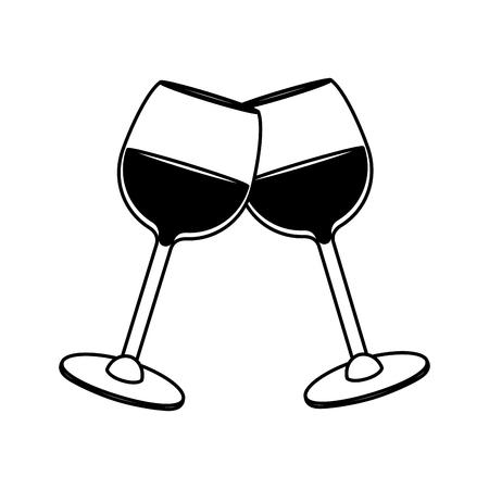 wine beverage to celebration vector illustration