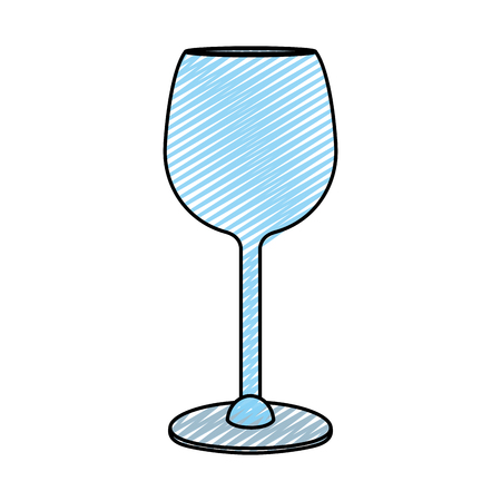 crystal glass object to drink wine vector illustration