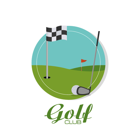 Golf sport theme poster template vector illustration