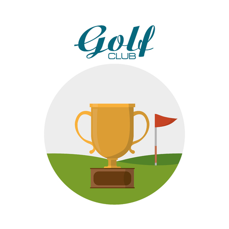 Golf sport trophy vector illustration graphic design Vectores