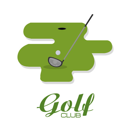 Golf club on camp vector illustration graphic design