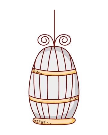 metal bird cage object design vector illustration Illustration