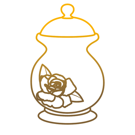 Degraded line porcelain container with sweet sugar ingredient vector illustration.