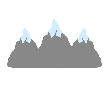 natural snowy mountains to winter weather Stock Illustratie