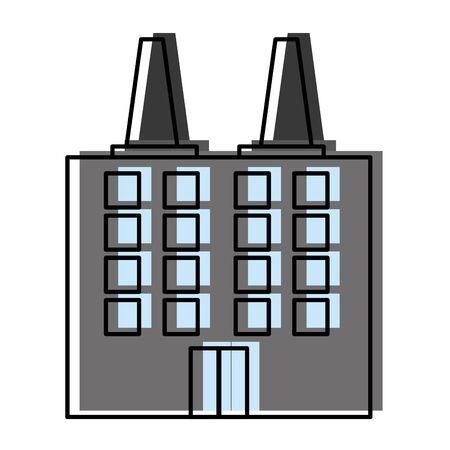 moved color industry factory enviroment and air contamination vector illustration  イラスト・ベクター素材