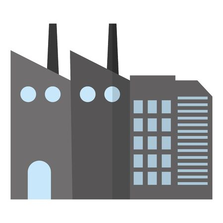 industrial factory environment air contamination vector illustration
