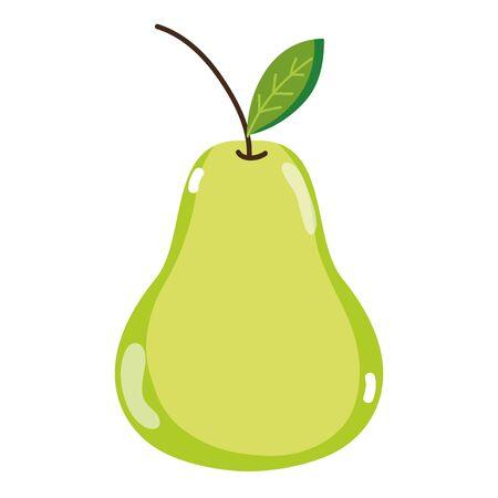 Fresh delicious pear fruit nutrition vector illustration Illustration