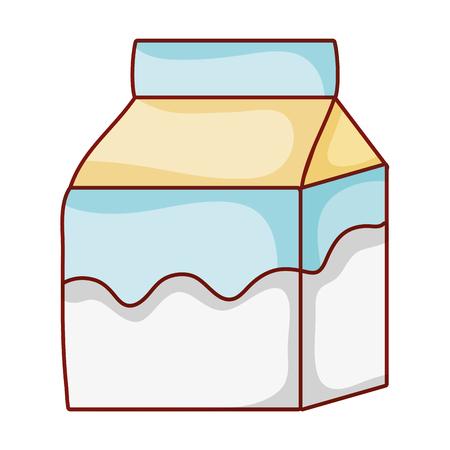 fresh milk box healthy drink vector illustration