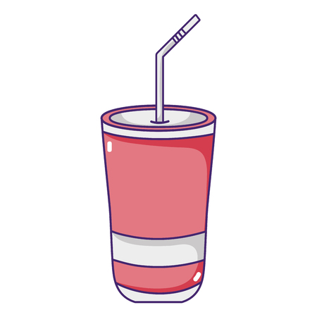 fresh soda cool calories beverage vector illustration Иллюстрация