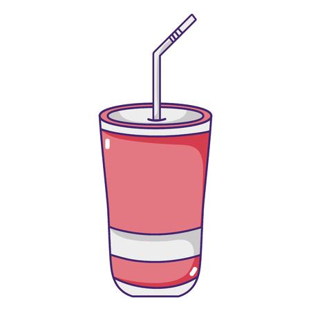 fresh soda cool calories beverage vector illustration Ilustração