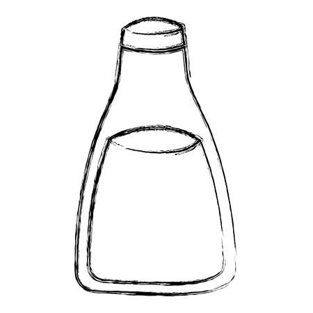 grunge healthy fresh milk bottle drink vector illustration Illustration