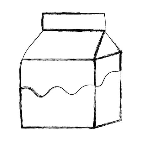 grunge fresh milk box healthy drink vector illustration