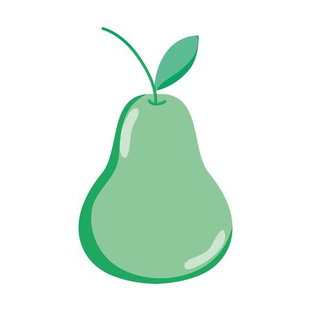 delicious pear organic fruit nutrition vector illustration
