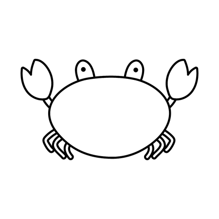 line nature crab tropical animal of sea vector illustration