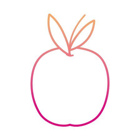 degraded line healthy orange organic fruit nutrition vector illustration
